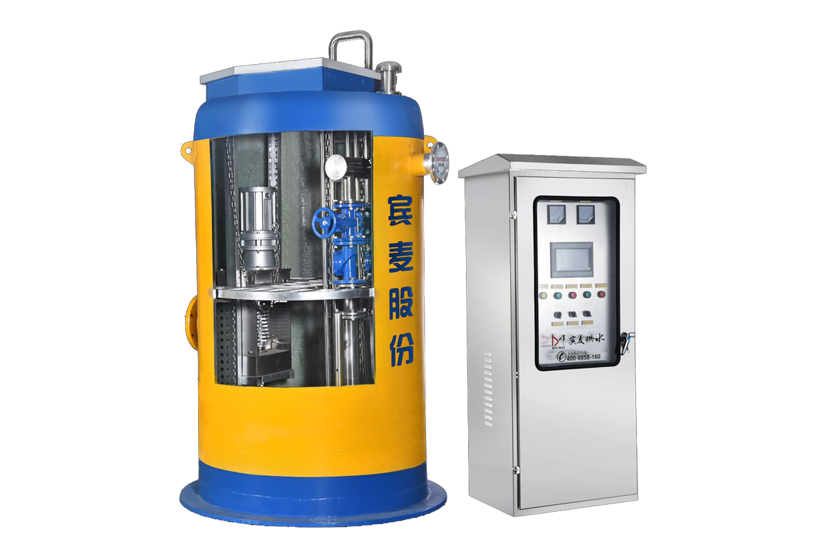 Integrated underground prefabricated sewage lifting pump station